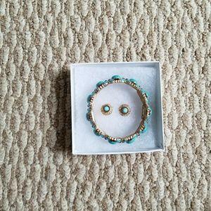 Cute Blue Bracelet and Earrings Set!